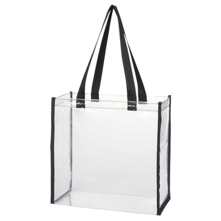 Clear PVC Tote Bag Black