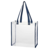 Clear PVC Tote Bag Navy Blue